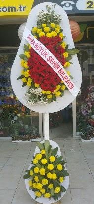 Çift katlı düğün nikah açılış çiçek modeli  İsparta çiçekçi mağazası