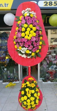 Çift katlı düğün nikah açılış çiçek modeli  İsparta online çiçek gönderme sipariş