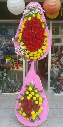 Çift katlı düğün nikah açılış çiçek modeli  İsparta çiçekçiler