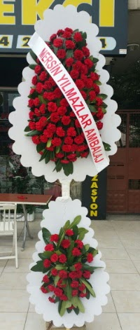 Çift katlı düğün nikah çiçeği modeli  İsparta hediye çiçek yolla