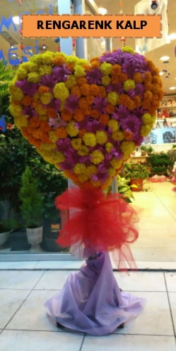 Ankara mevsim çiçeklerinden kalp perförje  İsparta çiçekçi telefonları