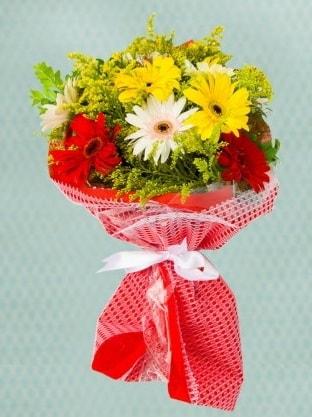 Karışık Gelbera Buketi  İsparta çiçek siparişi sitesi