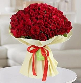 101 adet kırmızı gül buketi koca demet  İsparta internetten çiçek siparişi