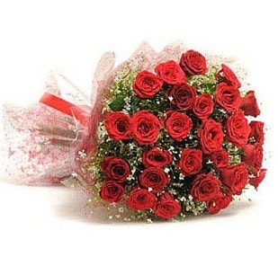 27 Adet kırmızı gül buketi  İsparta ucuz çiçek gönder