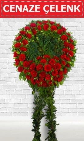 Kırmızı Çelenk Cenaze çiçeği  İsparta İnternetten çiçek siparişi
