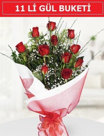 11 adet kırmızı gül buketi Aşk budur  İsparta çiçek gönderme sitemiz güvenlidir