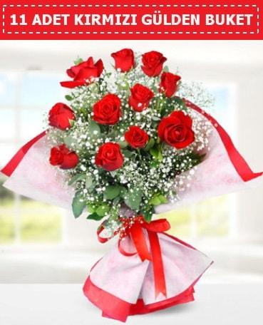 11 Adet Kırmızı Gül Buketi  İsparta internetten çiçek siparişi