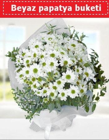 Beyaz Papatya Buketi  İsparta 14 şubat sevgililer günü çiçek