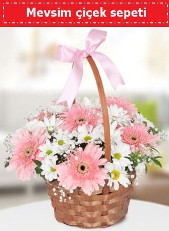 Mevsim kır çiçek sepeti  İsparta çiçek , çiçekçi , çiçekçilik